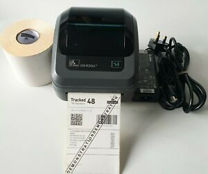 Zebra GK420d Thermal Label Printer with  Charger USB Cable 500 Labels  668
