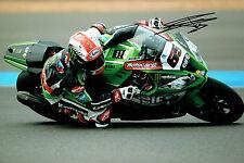 Jonathan REA 2015 SIGNED WSBK Motorbike Rider Autograph 12x8 Photo AFTAL COA