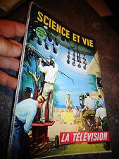 Science et Vie LA TELEVISION ancienne 1954 Camera Plateau de Tournage Technique