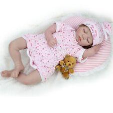22'' NEWBORN BABIES REBORN BABY DOLLS SOFT SILICONE VINYL SLEEPING GIRL/BOY GIFT