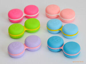 12 pcs Macaroon Contact Lens Storage Soaking Case FDA approved Fun Cute Cases