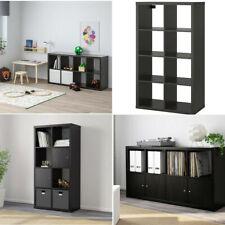 Ikea KALLAX Storage Organiser Shelving Unit Home Black/Brown Effect 77x147 cm