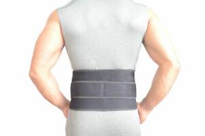 Adjustable Neoprene Double Pull Lumbar Support Gym Back Belt Brace Pain Relief
