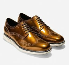 New Cole Haan Original Grand Wingtip Oxford Shoes Size 7 Copper Ivory Gold