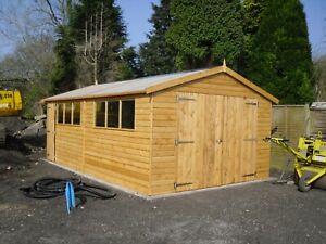 T & G Shiplap Garage / Workshop - Timber Storage Building - Sheds