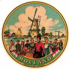 HOLLAND  Vintage Looking Travel Decal Luggage Label Sticker