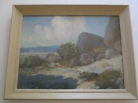 DESERT PAINTING RALPH MILLER LANDSCAPE ANTIQUE EARLY CALIFORNIA IMPRESSIONIST