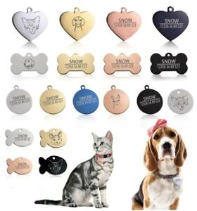 Pet collar custom name tag for a cat or dog (free engraving)