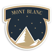 2 x 10cm Mont Blanc Mountain Vinyl Stickers - Alps Ski Luggage Sticker #34682
