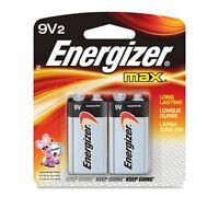 Energizer MAX Alkaline Batteries 9 Volt 2 Each (Pack of 5)