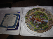 bradford exchange winnie the pooh collectible plate a slippery fun expedition