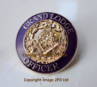 Freemason Grand Lodge Officer Mark Master Masons lapel pin badge Purple zp352