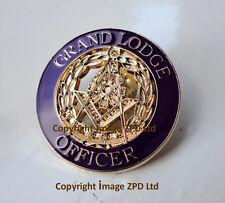 ZP352 Freemason Masonic Masons Grand Lodge Officer lapel pin badge Purple Outer