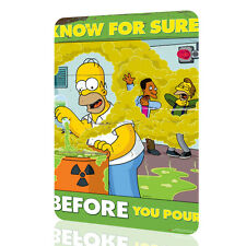 """Metal Tin Sign The Simpsons """"Know For Sure"""" Security Collection 3 Decor Rusted"""