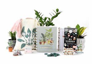 BNIB Happy Planner Plant A Happy Life Be Happy Box Planner Stickers Tote Discs