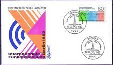 Berlín 1983: radio internacional 1983 de exposición! el FDC nº 702! 1a 1510