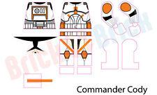 Lego Star Wars Clone 212th Battallion Commander Cody Custom Water Slide Decal