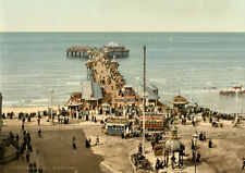 "P16 Vintage 1890's Photochrom Photo North Pier Blackpool Lancs Print A3 17""x12"""