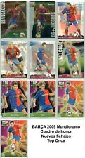 10 fichas ESPECIALES Barça de Messi 2008-2009  Mundicromo liga Pep Guardiola