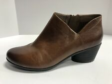 Dansko Raina Burnished Calf, Chestnut Brown Leather Bootie Wo's 9.5-10 EUR40