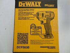 "DEWALT DCF883 20V 20 Volt Max Lithium Ion 3/8"" Impact Wrench w Hog Ring New NIB"