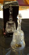 """Vintage 7.5"""" Cut Glass Lead Crystal Bell made by Annahutte West Germany Boxed"""