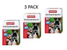 More details for 3 x beaphar anti parasite spot on flea treatment for rabbits guinea pigs ferrets