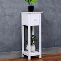 Telephone Bedside Table Cabinet Nightstand Side Drawer Shelf Storage Bedroom UK