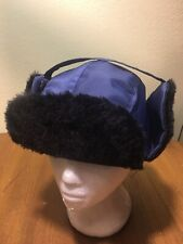 Trooper Police Military Play Prop Bomber Hat Ear Flaps L Large Blue
