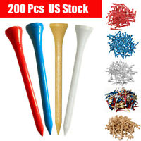 "Golf Wood Tees 200 Count 3-1/4"" Height 7x Stronger Than Callaway 5 Choices"