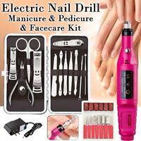 New Professional Electric Nail File Drill Manicure Pedicure Tool Machine Set Kit