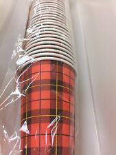100 GOBELETS CARTON Look Scotch Carreaux écossais Anglais Vintage années 60
