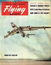 RAF FLYING REVIEW MAR 55 FACSIMILE: VALIANT/ B-47 CUTAWAY/ GUY GIBSON/ XP6M-1