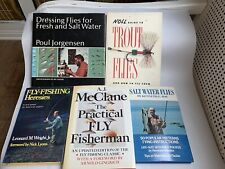 5 VINTAGE 1970s Books Fly Casting Fly Fishing Fresh and Salt Water