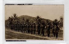 NATIVE POLICE FORCE, PORT MORESBY: Papua New Guinea postcard (C30487)