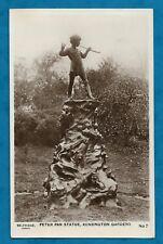 1933 SELFRIDGES RP PC PETER PAN STATUE, KENSINGTON GARDENS