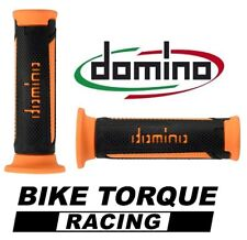 Suzuki RG50  Black / Orange Domino Turismo Handle Bar Grips