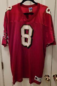 Vintage Champion San Francisco 49ers Steve Young #8 Football Mens NFL Jersey 48