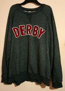 DERBY GREY RED SWEAT SHIRT SWEATER JUMPER SWEATSHIRT SIZE XXXXXXL 6XL VGC COUNTY