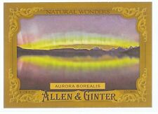 2016 Allen & Ginter Natural Wonders Aurora Borealis NW-8