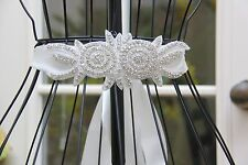 Rhinestone Wedding White Sash Belt, Ivory Bridal Prom Sash Crystal Belt -SB1