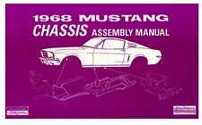 NEW! 1968 Mustang Chassis Assembly Manual Shop Manual Illustrated View