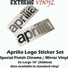 "Aprilia Decals 2x 10"" Special Chrome/ Mirror Vinyl RSV4 1000R Mille RS125"