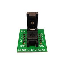 QFN8 DFN8 WSON8 Probe Pogo Pin Test Socket Adapter Pitch 0.5mm IC Size 2x3mm