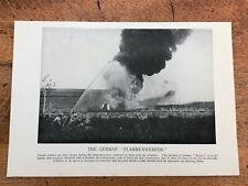 "original 1918 print. the german "" flammenwerfer """