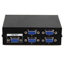5 Port 1 PC IN to 4 LCD TV Monitor OUT VGA SVGA XGA Video Switcher Splitter Box