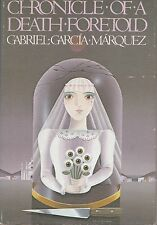 Chronicle of a Death Foretold by Gabriel García Márquez (1983, HardcoverDJ~Mint)