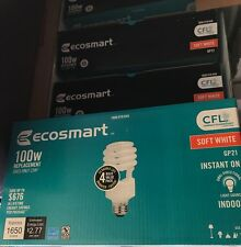 EcoSmart 100W Equivalent Soft White (2700K) Double Life CFL Light Bulb(16-BULBS)