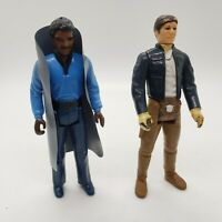 Vintage 1980 STAR WARS Lando Calrissian and HAN SOLO Bespin Action Figure Lot