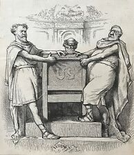 Thomas Nast.  Is There To Be A Power Behind The Throne? Wood Engraving, 1881.